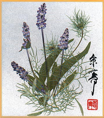 Dancing Flowers workshops white shikishi board